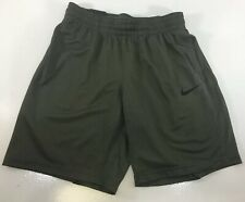 Nike Women's Loose Fit Pull On Elastic Waist Mesh Basketball Shorts Olive M NWT@