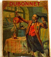 1913-1914 - AFFICHE PUBLICITÉ DUBONNET SUR CARTON DU PEINTRE BOUTIGNY