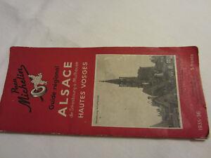 ANCIEN GUIDE ROUGE RÉGIONAL MICHELIN : ALSACE Hautes Vosges1935-1936