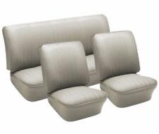VW Seat Upholstery, Full Set, Off-White Basketweave Vinyl, Beetle 1958-1964