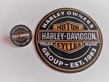 Harley Davidson HOG PATCH - PIN SET NEU EST.1983