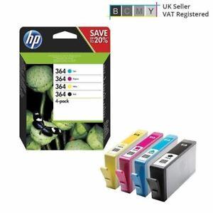 Genuine HP 364 Ink Cartridge 2019 Multipack (N9J73AE) Photosmart 5520 e-A-i-O
