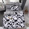 Cow Print Single/Double/Queen Size Bed Quilt/Doona/Duvet Cover Set Black&White