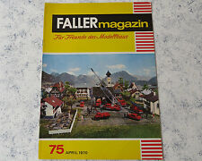 Faller AMS ---  Faller Magazin 75, April 1970 !