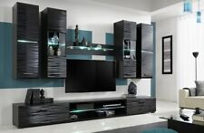 Furniture Living Room Set TV Unit Modern Cabinet Cupboard Wall Shelf Stand Gloss Blade 4
