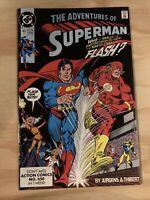 The Adventures Of Superman #463 Superman vs The FlashRace DC Comics 1990 Beauty