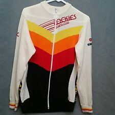 Vintage Pearl Izumi Cycle Wear Colorful Sweater Zipper Cardigan Rockies Fitness
