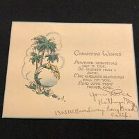 #1962c🌟Vintage 30s GREETINGS FROM...CALIFORNIA Christmas Holiday Greeting Card