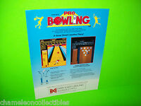 PRO BOWLING By DATA EAST 1983 ORIGINAL NOS VIDEO ARCADE GAME SALES FLYER