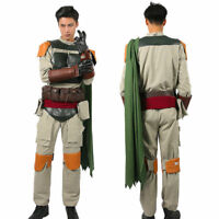 Boba Fett Cosplay Costume Outfits Star Wars Belt Props Halloween Party Adult Men