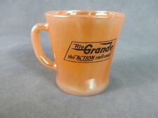 Vintage FIRE-KING Coffee Mug RIO GRANDE RAILROAD