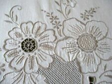 More details for large tablecloth hand embroidery - cream cotton - 82
