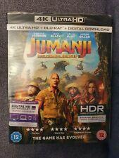 JUMANJI - WELCOME TO THE JUNGLE - 4K ULTRA HD + BLU-RAY - BRAND NEW AND SEALED