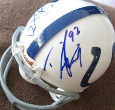 Dwight Freeney Reggie Wayne autographed signed auto Colts mini helmet IN PERSON
