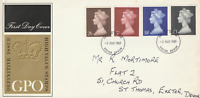 5 MARCH 1969 ALL 4 HIGH VALUE DEFINITIVES GPO FIRST DAY COVER EXETER DEVON FDI