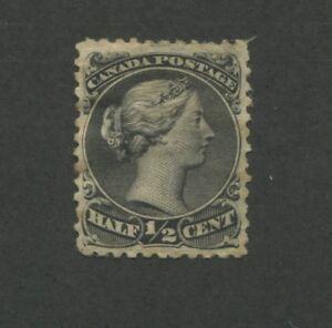 1868 Canada Stamp #21c Mint Hinged F/VF Original Gum Queen Victoria