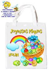 sac shopping joyeuses pâques sac pour la chasse aux oeufs sac à cadeaux  réf 44