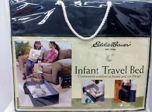 Eddie Bauer Infant Travel Bed Foldable Baby Changing Station Black