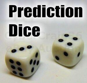 PREDICTION DICE 1 IN 6 PREDICT DIE NEW MENTAL MAGIC TRICK RUSSIAN FORCE NUMBER 2