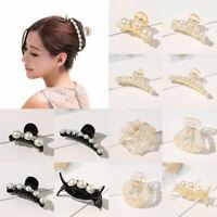 Women Pearl Rhinestone Hair Clip Ornaments Barrettes Hair Claws Hair Accessories