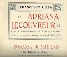 Spartito Musicale Adriana Lecouvreur di Francesco Cilea Tenore e Pianoforte 1903