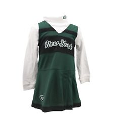 New York Jets Official NFL Infant Toddler & Kids 2 Piece Cheerleader Outfit New