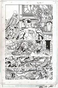 Cyborg #2 SIGNED Original Paul Pelletier Art Page Justice League JLA Teen Titan