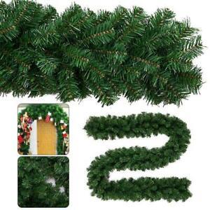 9ft Green Christmas Garland Decorations Fireplace Artificial Wreath Pine Xmas UK