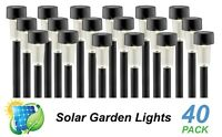 40 Pack LED Solar Garden Path Lights Black Warm White DIY