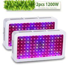 2× 1200W Plus LED Grow Light Panel Lamp for Plants Hydro System Full Spectrum
