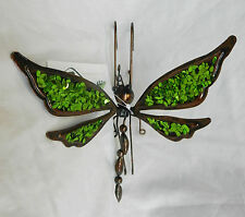 Hanging / Shelf Hanging Metal Sequinned Dragonfly - Green - BNWT