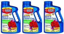 (3) Bayer 701100A 5 lb Systemic 2 In 1 Rose & Flower Care Insect Control + Food