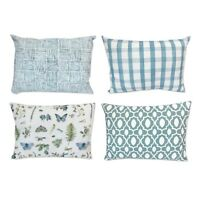 Jana Floral and Chequered 4 Piece Cushion Set For Sofa Armchairs Home All Chic