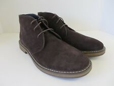 Joseph Abboud Mens Travis Suede Chukka Boots Lace Up Chocolate Size 10.5 #B484
