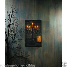 X46727 Lighted Spooky Candelabra Canvas Painting Picture Art Halloween