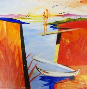 "Boat 2 by Alfred ""Alex"" Gockel (Fine Painting Art on Canvas)"