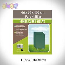 5355 FUNDA RAFIA VERDE 4 SILLAS 66X66X109 cm