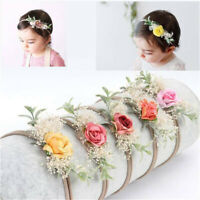 Baby Lovely Headband Toddler Girl Newborn Flower Bow Nylon Hair Band Accessory
