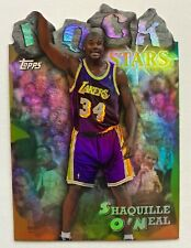 SHAQ 1997-98 Topps Rock Stars REFRACTOR SHAQUILLE O'NEAL #RS13 Lakers, HOT!