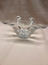 Vintage Clear Glass Odd Shaped Bowl/Center Piece Beautiful