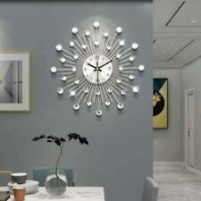 Sparkling Bling Crushed Diamond Metallic Wall Clock Home Living Room Decor Metal