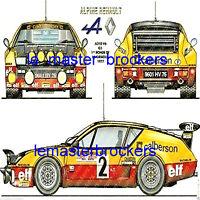 POSTER AFFICHE AUTO RENAULT 4/cv R4 R5 Turbo R8 R12 GORDINI R21 ALPINE A 110 310