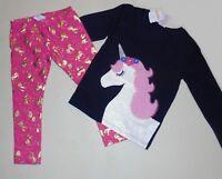 Gymboree Girls Unicorn Navy Tee Leggings 12-18 18-24 2T 3T NWT