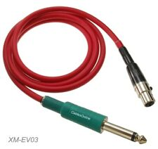 """3ft Mini XLR 4-Pin TA4F Female to 1/4"""" TS/M Cable for Electo-Voice Systems"""