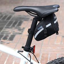 Black Waterproof Bike Cycling Saddle Bag Seat Pouch  Tail Rear Storage Cool HOT