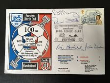 More details for preston v sunderland 100th league meeting signed by 20.please look at the back!