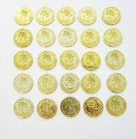 25 PLASTIC GOLD COINS PIRATE TREASURE CHEST  PLAY MONEY BIRTHDAY PARTY FAVORS