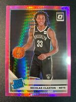 2019-20 Donruss Optic Nicolas Claxton Pink Prizm Rookie Card RC! Brooklyn Nets!
