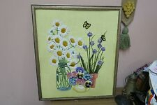 "Vintage Hand Made Stitched Needlework Framed 18"" x 21"" - 20"" x 24"""
