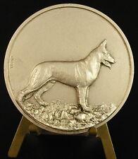 Médaille Chien Dog Berger allemand German chepherd 67 mm gloria animal medal